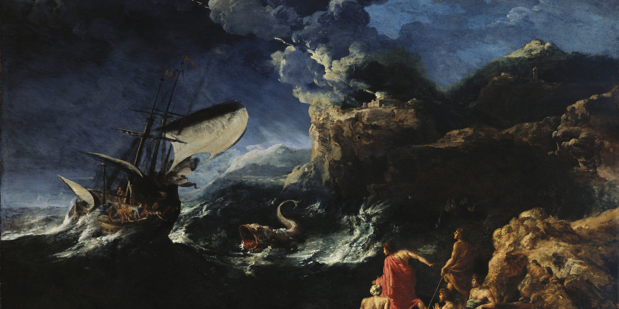 Gaspard_Dughet_(1615-75)_-_Seascape_with_Jonah_and_the_Whale_-_RCIN_405355_-_Royal_Collection